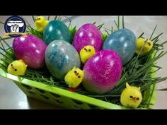 How to Color Eggs with Crepe Paper Easter Egg Dye, To Color, Egg Decorating, Crepe Paper, Crafts, Craft Ideas, Spring, Kitchen, Youtube