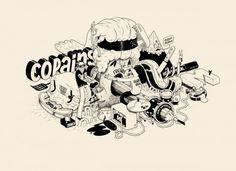 Matthieu Bessudo aka Mc Bess - Illustrazione surreale in bianco e nero