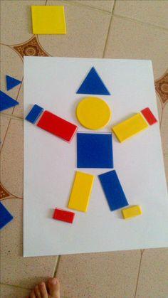 Les Blocs Logiques Preschool Learning Activities, Preschool Worksheets, Infant Activities, Classroom Activities, Preschool Activities, Kids Learning, Body Preschool, Teaching Shapes, Shape Crafts