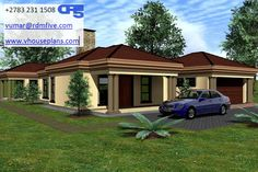 House Plan No W2191 #BeautifulHouses #Bedrooms Single Storey House Plans, Plot Plan, Home Collections, Homeland, Beautiful Homes, Gazebo, Home Goods, Outdoor Structures, House Design