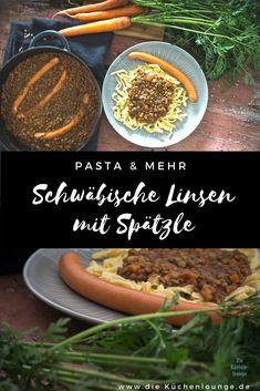 Swabian lentils with spaetzle - the original-Schwäbische Linsen mit Spätzle – das Original Swabian lentils with spaetzle - Salmon Recipes, Seafood Recipes, Vegetarian Recipes, Healthy Recipes, Lentil Recipes, Paleo Dinner, Dinner Recipes, Paleo Meal Plan, Keto
