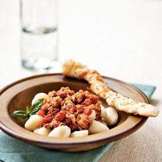 Gnocchi with Turkey Ragù Recipe   MyRecipes.com