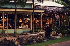 "Mama's Fish House {Maui, HI}. I painted the view from this restaurant which leads directly to the ocean.....see my board ""My Artwork"""