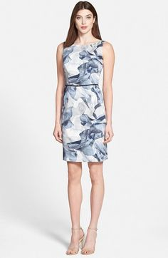 BOSS 'Dinoma' Belted Sheath Dress available at #Nordstrom