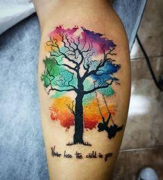 Body – Tattoo's – Watercolour by Ramone joli corps - tatouage - aquarelle par Ramone And Body Art Tattoo Aquarelle, Watercolor Tattoo Tree, Creative Tattoos, Unique Tattoos, Beautiful Tattoos, Nature Tattoos, Body Art Tattoos, Sleeve Tattoos, Tree Tattoo Meaning
