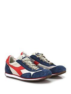 DIADORA Heritage - Sneakers - Uomo - Sneaker in tessuto e camoscio effetto vintage con suola in gomma. Tacco 15. - ECRUDENIM - € 155.00