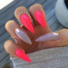 HOT! If you love stilettos this nail art is it! | ideas de unas | @joannasnails