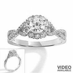 Simply Vera Vera Wang Diamond Engagement Ring in 14k White Gold (1-ct. T.W.)