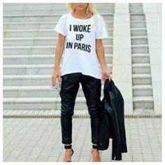 I Woke Up In #Paris Tee @poshmark by splittrends
