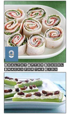 9 Healthy After School Snacks for the Kids. Great alternatives to sugary snacks or fast carb-load treats.  Healthy snacks for kids that are fast and easy.