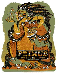 Primus Poster from Maplewood by Guy Burwell