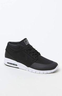 adidas Nike Sb Stefan Janoski Max Mid Black   White Shoes Nike Sb 0802b5bb517