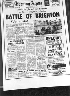 How the local paper reported the so-called Battle of Brighton in 1964!