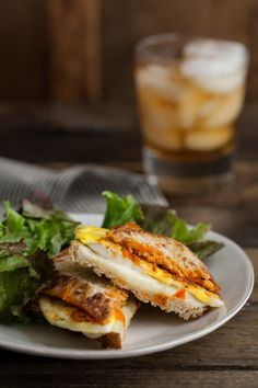 Harissa + Egg Grilled Cheese Sandwich #nutrition #recipes
