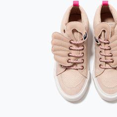 huge selection of 98d40 76164 BOTTINES SPORT MOTIF FLAMANT Motif Flamant, Zara Enfant, Chaussures Fille,  Bottines, 14