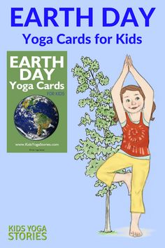 Earth Day Yoga Cards for Kids: Celebrate Earth Day through yoga poses for kids!  Pretend to be a book, bottle, and bicycle! Instantly download these 41 Earth Day digital yoga cards to celebrate this green living holiday in your home, classroom, or studio. Includes an Index Card, Yoga Tips, Pose Instructions, 15 Yoga Pose Cards, and 15 matching Earth Day cards.   Kids Yoga Stories
