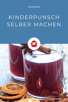 Kinderpunsch selber machen Warm drinks are particularly popular in the cold season. Children's punch – it's clear. The recipe for the alcohol-free and delicious alternative to mulled wine can be found here. Healthy Pasta Recipes, Baby Food Recipes, Healthy Food, Non Alcoholic Drinks, Cocktail Drinks, Cookies Roses, Wine Wallpaper, Kids Punch, Wine Decor