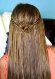Cute hairstyles from cute girls hairstyles Cute Braided Hairstyles, Dance Hairstyles, Cute Girls Hairstyles, Summer Hairstyles, Pretty Hairstyles, Flower Hairstyles, Hairstyle Ideas, Mermaid Hairstyles, Layered Hairstyles