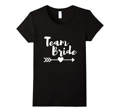 Women's Team Bride Bachelorette Party Wedding Shirt XL Black
