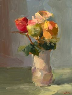 ❀ Blooming Brushwork ❀ garden and still life flower paintings - Christine Lafuente, Flowers