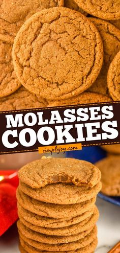 Put this Christmas in July recipe on your must-make list! Soft and chewy with the perfect combination of spices, these Molasses Cookies are always a favorite dessert idea. Everyone loves these… Best Homemade Cookie Recipe, Best Cookie Recipes, Homemade Cookies, Sweet Recipes, Simple Recipes, Yummy Recipes, Make Ahead Desserts, Delicious Desserts