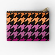 Hounds Tooth, Zipper Pouch, Makeup Yourself, Chiffon Tops, Are You The One, Purple, Pink, Lesbian, Art Prints