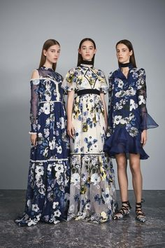 Erdem Resort 2017...Love these details.Take 2-3 details that fits your style & recreate that special bridal look. Select fabric that fits the wedding theme.