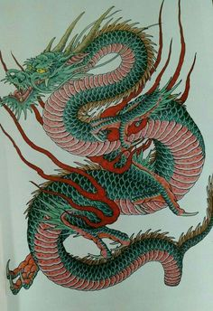 tattoos in japanese prints Dragon Tattoo Images, Dragon Tattoo For Women, Dragon Tattoo Designs, Chinese Dragon Art, Japanese Dragon Tattoos, Dragon Tattoo Oriental, Asian Dragon Tattoo, Japanese Tattoo Women, Japanese Sleeve Tattoos