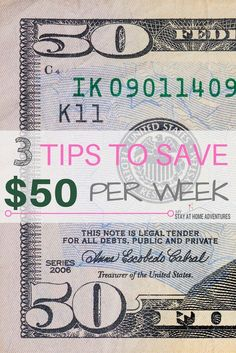 Want to save money and can't figure out how? Follow these 3 tips to save $50 per week to help you get started on your saving journey.