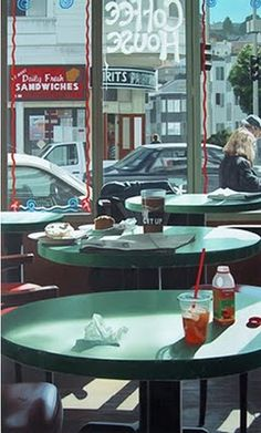 Stephen Albert's amazing photo realism urban paintings #art