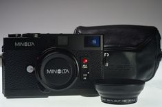MINOLTA CLE with M-ROKKOR 40mm f/2 Excellent+ #Minolta