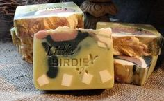 Little Birdie | We just love this one! The scent is a totally delicious, soothing and uplifting blend of lemongrass, lavender and rose geranium. We wanted an ultramoisturizing, mild soap so we formulated it with large amounts of cocoa butter and almost a pound (!) of shea butter in each small batch. What resulted is a bar that has loads of vitamin rich moisture and is scented with incredibly beneficial essential oils. Beautiful, Aromatheraputic, Moisturizing...a triple threat!Net wt. 4.5oz…