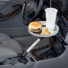 Cool idea...I think I would put the soda in the other car cupholder though, LOL.