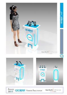 ALCATEL - Standing Table Display