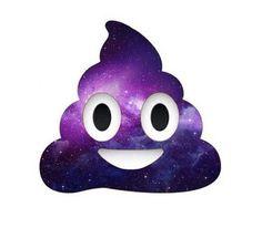 Galaxy poop emoji