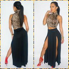 Cute leopard skin top outfit