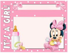 Minnie Mouse Baby Shower Invitations Free Templates | Invitations ...