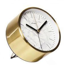 cloudnola alarmklok clock alarm marble white gold