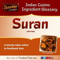 #Suran - A starchy tuber native to Southeast Asia. #IndianCuisine #Glossary