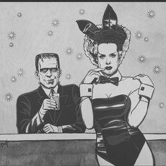 Frankenstein's monster & his Bride