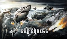 """Marc Fehse's new horror comedy Sky Sharks (2017) seems like a slightly different take on Syfy's Sharknado movies. I read the synopsis and even though Sharknado was not my """"thing"""", I feel like I could really like Sky Sharks. Sad we have to wait till September 1, 2017 to watch the film but by that time the new film should be very polished. Cast in Sky Sharks include Cary Tagawa, Robert LaSardo, Nick Principe, Lar Park-Lincoln, Lynn Lowry and Micaela Schafer."""