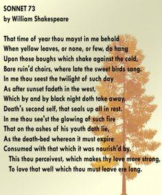 William Shakespeare's Sonnet 73. - my favorite sonnet