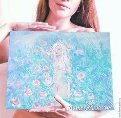 Olkhovaya Yuliya Olkhovaya Yuliya картины девушек, искусство, купить картину, цветы, обнаженные, розы, бирюзовый, девушка, женщины, sun,colors, art, picturesgirls, painting, summer, flowers,  beautiful, girls, nude, rose, tender, love, followme, nature