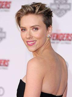 Short Hairstyles - Scarlett Johansson's Edgy Pixie | allure.com