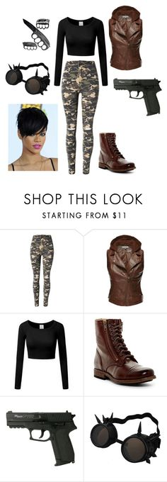 """EJ ~ THE 100"" by electraxlaxus on Polyvore featuring WithChic and Frye"