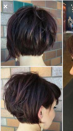 66 Chic Short Bob Hairstyles & Haircuts for Women in 2019 - Hairstyles Trends Bobs For Thin Hair, Short Hair With Layers, Short Hair Cuts, Short Hair Styles, Short Stacked Hair, Bob Style Haircuts, Short Hairstyles For Women, Hairstyles Haircuts, Layered Hairstyles