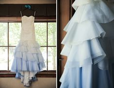 Blue Ombre Wedding Dress. Style: Mika by Modern Trousseau
