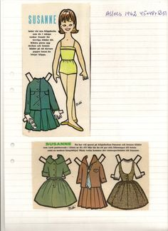 Susanne paper doll 1962 Maggans Nostalgiska Klippdockor *  The International Paper Doll Society by Arielle Gabriel for all paper doll and paper toy lovers. Mattel, DIsney, Betsy McCall, etc. Join me at ArtrA, #QuanYin5  Linked In QuanYin5 YouTube QuanYin5!
