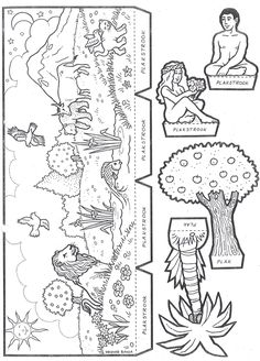 Adam and Eve trifold Sunday School Activities, Bible Activities, Sunday School Lessons, Sunday School Crafts, Bible Story Crafts, Bible Stories For Kids, Bible Crafts For Kids, Church Crafts, Catholic Crafts