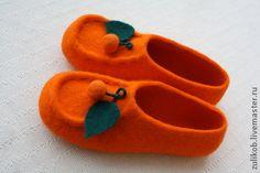 Felted slippers Oranges Обувь ручной работы. Ярмарка Мастеров - ручная работа тапочки валяные АПЕЛЬСИНЫ. Handmade.